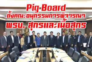 Pig Board ตั้งคณะอนุกรรมการพิจารณา พรบ. สุกรและเนื้อสุกร